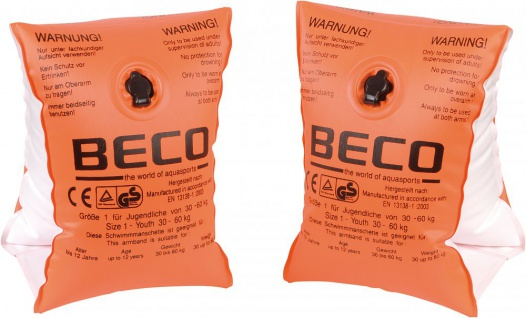 Schwimmflügel von Beco für Babys bis 15 Monate 0 Farbe Orange