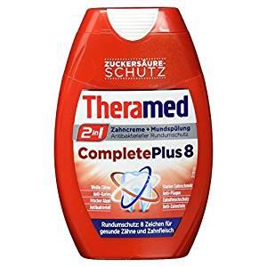Theramed 2in1 Complete Plus 8 mit Zuckersäure Zusatz Rundumschutz 75 ml 4er Pack