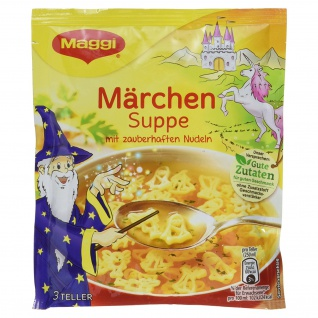 Maggi Märchen Suppe mit zauberhaften Märchenmotiven - Nudeln, 53 g