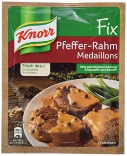 Knorr Fix Pfeffer Rahm Medaillons 3 Portionen 420g 12er Pack