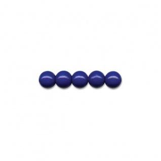 Brunnen 30 Holzperlen 12mm marineblau für Ketten und Armbänder