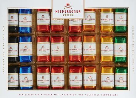 Niederegger Marzipan Klassiker Variationen verpackte Pralinen 300g