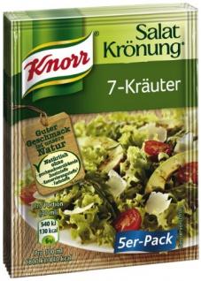 Knorr Salatkrönung 7 Kräuter klarer Salatdressing 10g 5x14er Pack