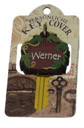 Schlüsselkappe Schlüsselköpfe in Form einer Traubenranke Name Werner