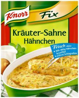 Knorr Fix für Kräuter-Sahne-Hähnchen, 30er Pack (30 x 42 g Beutel)