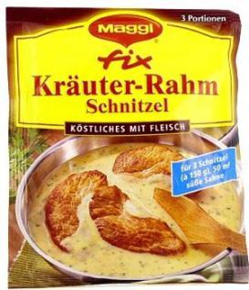 Maggi fix&frisch Kräuter-Rahm Schnitzel