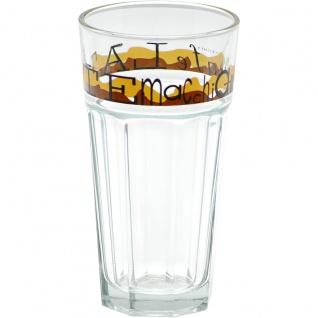 Latte Macchiato Trinkglas stapelbar mit Coffee Dekor Höhe 15cm