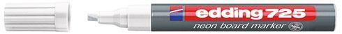 Edding Neon-Boardmarker 725 weiss für leuchtende Markierungen