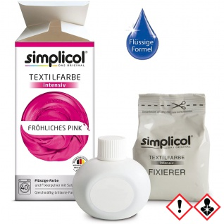 Simplicol Textilfarbe intensiv all in 1 Flüssig Fröhliches Pink