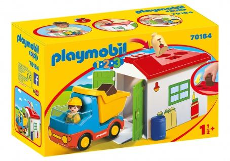 playmobil 123 70184 LKW mit Sortiergarage für Mädchen und Jungen