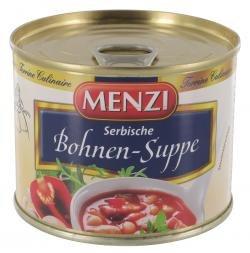Menzi Serbische Bohnen-Suppe 200 ml mit Schweinefleisch und Räucherspeck.