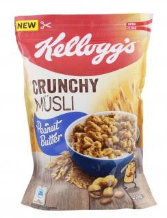 Kelloggs Crunchy Müsli Peanut Butter knusprige Cerealien 425g