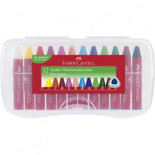 Faber Castell Wax Crayons Stifte Wachsmalkreiden Jumbo 12er Box