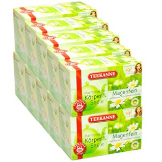 Teekanne Harmonie für Körper & Seele Magenfein Teebeutel Kräuter 40g 10er Pack