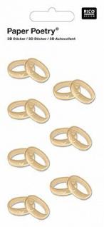 3D-Sticker Ringe Gold