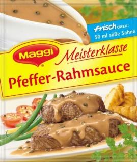 Maggi Für Genießer Pfeffer Rahmsauce, 28 g Beutel, ergibt 250 ml