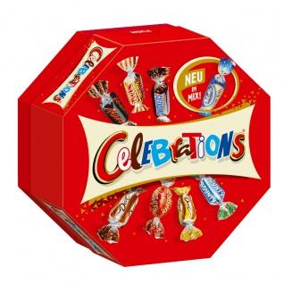 Celebrations Schokoladen Pralinen 8 leckere Sorten Geschenkbox 186g