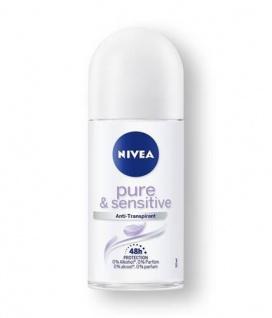 Nivea Roll-on Sensitive und Pure Anti Transpirant Schutz 50ml 6er Pack