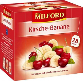 Milford Kirsche Banane Früchtetee mit Kirsch Bananen Aroma 63g