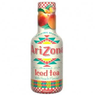 Arizona Eistee Pfirsich Erfrischungsgetränk Einwegflasche 500ml