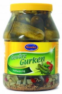 Paulsen Nowka Gewürzgurken vollwürzig eingelegt im Glas 1000g