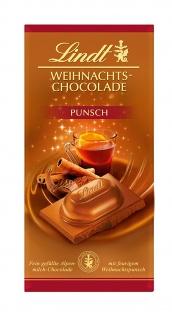 Lindt & Sprüngli Weihnachts-Punsch Schokolade, 4er Pack (4 x 100 g)