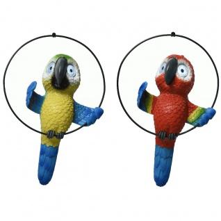 LED Solarbetriebene Lampe mit Papagei Design Gartendeko Figur