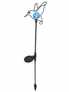 Solar Lampe mit Erdspieß in dekorativem Vogeldesign Solarbetrieben