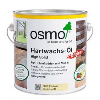 Osmo Hartwachs Öl farblos seidenmatt für alle Holzfußböden 750ml