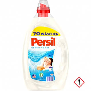 Persil Sensitive Gel Vollwaschmittel Hautverträglich 3500ml 2er Pack