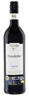 BIOrebe Dornfelder Rotwein Qualitätswein halbtrocken fruchtig 750ml