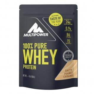 Multipower 100%PureWhey wasserlösliches Protein Salty Peanut Caramel 450g Beutel - Vorschau