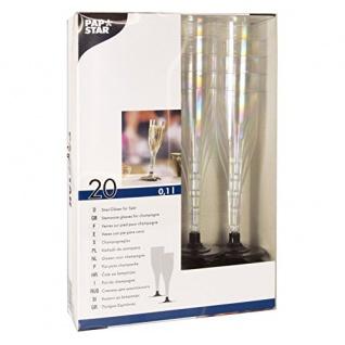 Einweg Sektglas Polystyrol 100ml glasklar Papstar Invitation 20 Stück