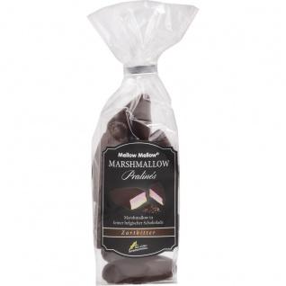 Marshmallow Praline mit feiner belgischer Zartbitter Schokolade 100g