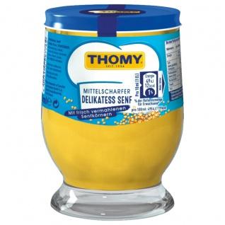 Thomy Delikatess Senf mittelscharf der Klassiker im Glas 250ml