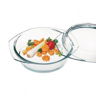 Simax Glasschüssel rund mit Deckel Backofenform Borosilikatglas 1.0l