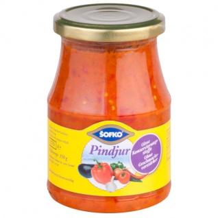 Pindjur Pikante Paprika Gemüsezubereitung Vegan von Sofko 370ml