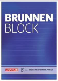 Briefblock DIN A4 blau liniert