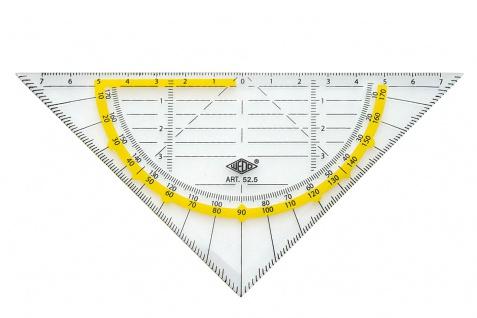 WEDO Geometrie Dreieck Standard ohne Griff mit Facette Transparent