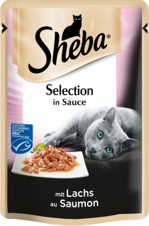 SHEBA Portionsbeutel Selection in Sauce mit Lachs MSC 85g