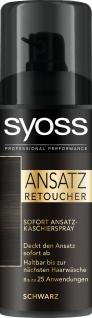 Syoss Ansatz Retoucher sofort Kaschierspray in Schwarz 120ml