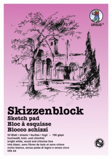 Skizzenblock 190g/qm weiß DIN A5