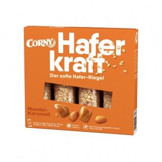 Corny Haferkraft Mandel Karamell Riegel Vollkorn Haferflocken 140g