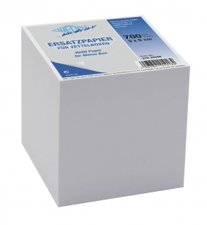 WEDO Zettelboxeinlage, 90x90 mm, weiß, 700 Blatt