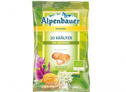 Alpenbauer Bio 20 Kräuter Bonbons wohltuend mit Honiggeschmack 90g