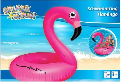 Schwimmring Flamingo Splash und Fun Flamingo 106 x 106 x 97 cm
