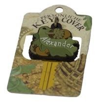 Schlüsselkappe Schlüsselköpfe mit Nüssen verziert Name Alexander