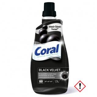 Coral Black Velvet Colorwaschmittel flüssig schwarz 22 WL 1100ml
