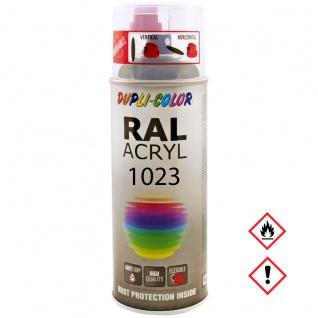 Dupli Color RAL Acryl Spray Glänzend RAL 1023 Spraydose 400ml