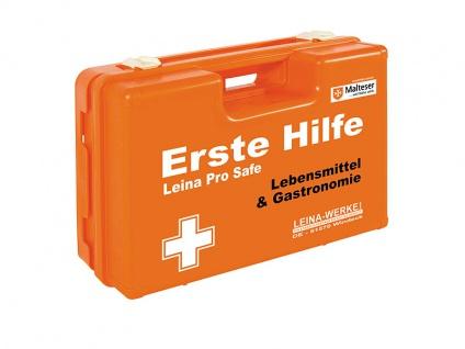 Leina Erste-Hilfe-Koffer Lebensmittel Gastro Pro Safe Inhalt DIN 13157 orange